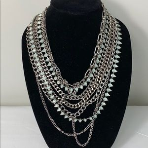 BaubleBar Courtney Aquamarine Bib